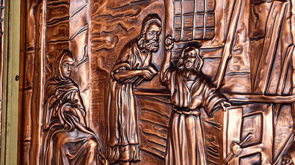 Détails sculptés dans la Basilique Sainte-Anne de Beaupré - Québec