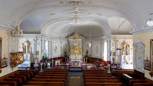 L'intérieur de l'église de Saint-Antoine - Québec