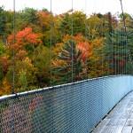 Le pont suspendu offre une vue imprenable sur les chutes de la Chaudière - Québec