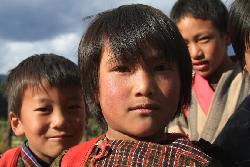 Enfants du Bhoutan - blog Bar a Voyages