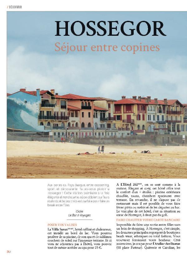 page 1 article Hossegor magazine Ma Ville à Moi 35