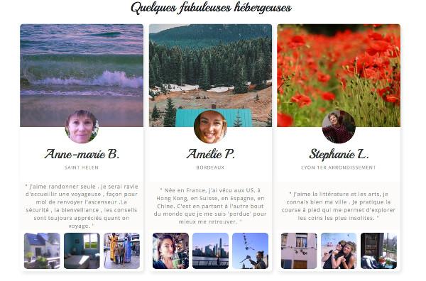 Capture d'écran du site de La Voyageuse - blog Le Bar à Voyages