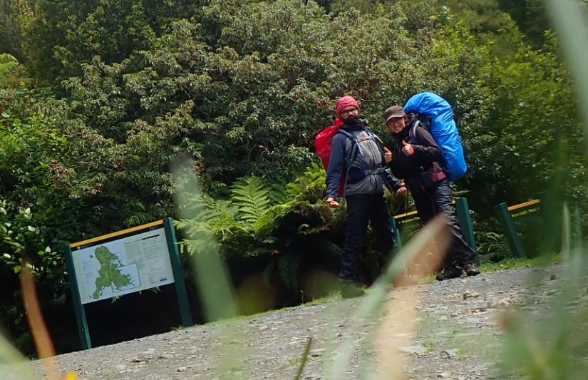 Yoann et Mélanie, randonneur PVTistes en Nouvelle-Zélande